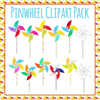 Pinwheel Clip Art Pack for Commercial Use