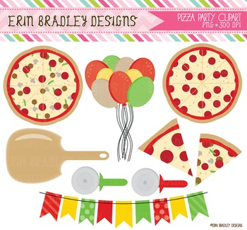 Clipart - Pizza Party Graphics