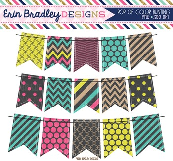 Clipart - Pop of Color Bunting