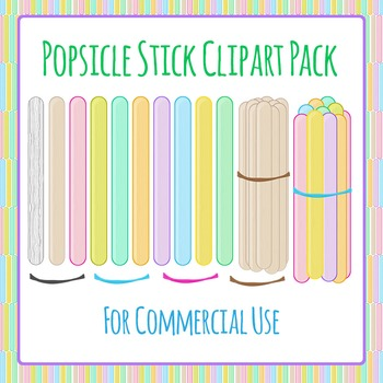 Popsicle Sticks / Paddle Pop Sticks Clip Art for Commercial Use