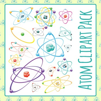 Atoms Clip Art Pack for Commercial Use
