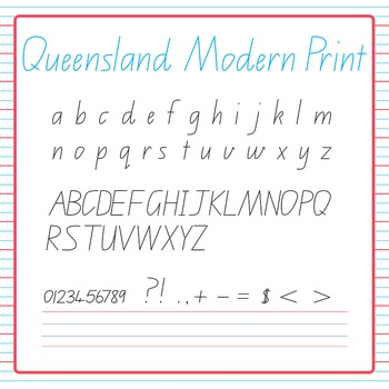 Handwriting Queensland Modern Print Mega Clip Art Pack for