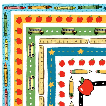 Clipart: School Days Border Set for Personal and Commercial Use
