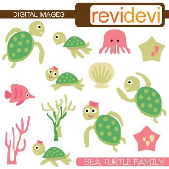 Clipart Sea Turtle Family