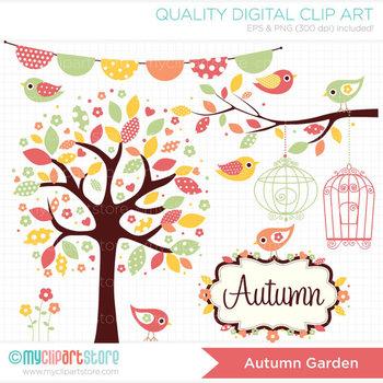Clipart - Seasons: Autumn Garden (Fall)