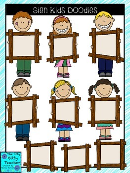 Clipart - Sign Kids Doodles