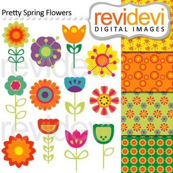 Flowers clip art: Clipart Spring Flowers