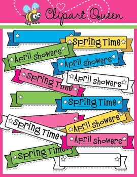 Clipart: Spring Time Banners