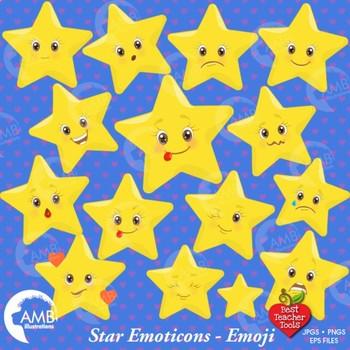 Star Clipart, Emoticons clipart, Stars clipart, Emoji Clip