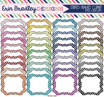 Clipart - Striped Frames