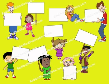Clipart: Students with signs