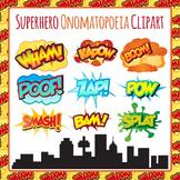 Superhero Onomatopoeia Clip Art Pack - Zap Boom Bam Wham K