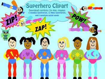 Clipart: Superheroes