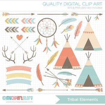 Clipart - Tribal Elements / Aztek / Navaho / American Indian