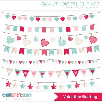 Clipart - Valentine Bunting