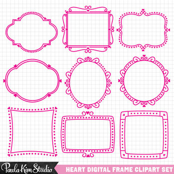 Clipart - Valentine Frames