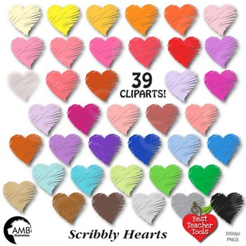 Clipart, Valentine Hearts clip art, commercial use, vector