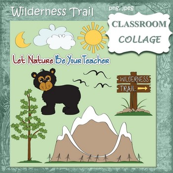 Wilderness Trail Clip Art - color   personal & commercial