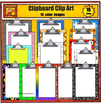 Clipboards with polka dots, swirls, paisleys, rainbows, st