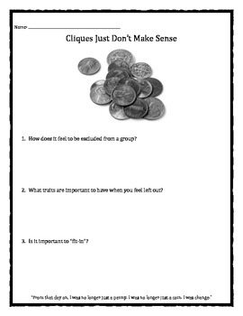 Cliques Just Don't Make Sense: Exclusion and Fitting In worksheet