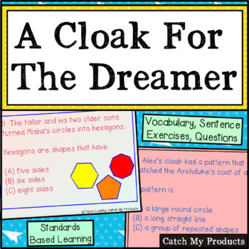A Cloak for the Dreamer Power Point with Vocabulary for Bo