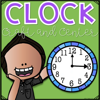 Clock Center and Paper Plate Clock Craft