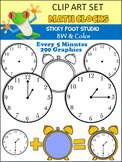 Clock Clip Art Intervals - Every 5 Minutes