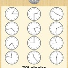 Clock Clip Art - Every Minute