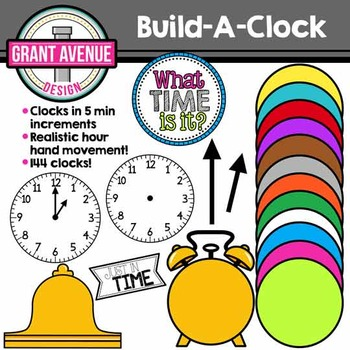 Clock Clipart - Build-A-Clock Clipart - Clock Clip Art for