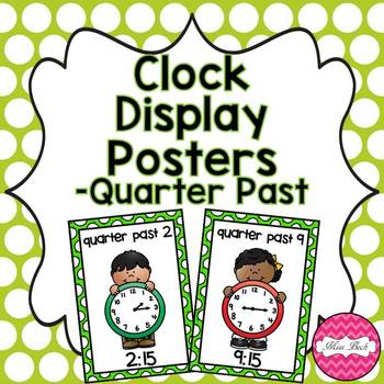 Clock Display Posters- Quarter Past Times