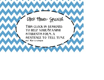 Clock Flower- Telling Time in Spanish *UPDATED*