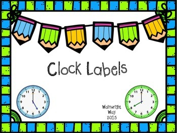 Clock Labels-Blue and Green Sports: Freebie