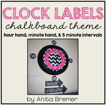Clock Labels {Chalkboard Theme}