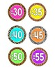 Clock Labels (Safari Print/Bright Colors!) -- FREEBIE!
