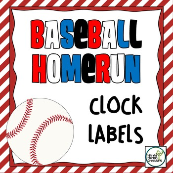 Clock Labels in a Baseball Theme