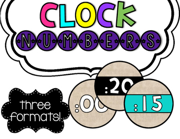 Clock Number Labels