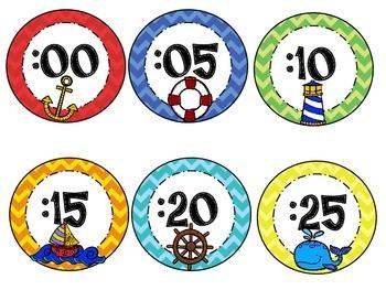 Clock Numbers - Nautical