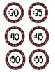 Clock Numbers and Time words - Black with Red Polka Dots