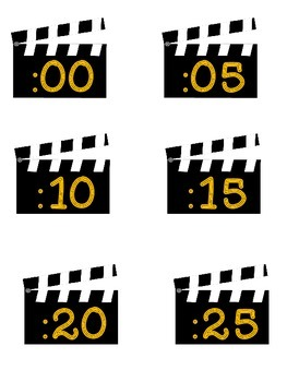 Clock Numbers for you Analog Clock Hollywood_ Movie Theme