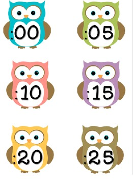 Clock Numbers for you Analog Clock Owl Theme