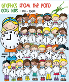 Clock Stick Kids - Clipart for Teaching