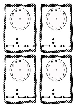 Clock Time Activities and Cards