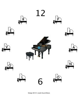 """Clock face with """"MUSIC LOVER"""" on the number"""