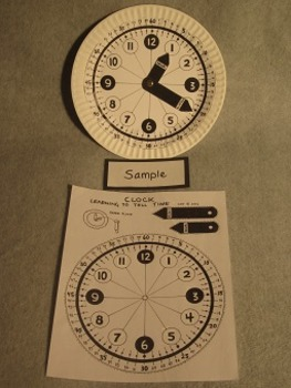 Clock for learning to tell time. Fun Craft Art. FREE
