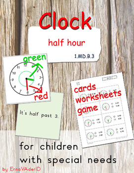 Clock - half hour - for children with special needs