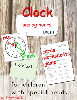 Clock - hour - for children with special needs