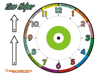 Clock/Time Helper packet; Targets common student analog cl