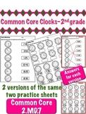Clocks - 2nd Grade Common Core 2.MD.7