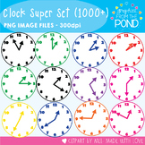 Clock Clipart Super Set - Clocks for Every Five Minutes -