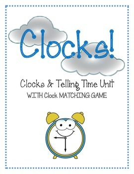 Clocks! Worksheets Matching Game Flashcards AM PM Clock Un
